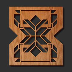 Decorative Frank Lloyd Wright Laser Cut Wood Trivets