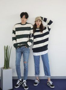 New fashion korean couple 59 Ideas - Leopardo - Korean Fashion Trends 2017, Fashion 2017, New Fashion, Fashion Online, Fashion Ideas, Matching Couple Outfits, Matching Couples, Cute Couples, Ulzzang Fashion