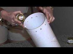 Aprenda fazer uma luminária com cano de PVC no quadro faça você mesmo - YouTube