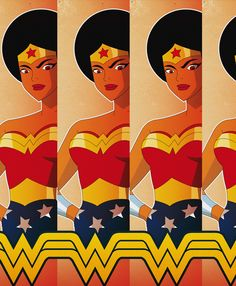 Afro Wonder Woman - Shoes & Board Concept by Corey Young, via Behance