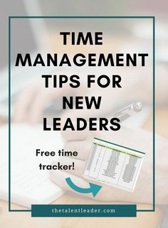 If you're a new manager or leader, this post is so helpful, it teaches how to spend your time. Time management and prioritization is a key part of leadership. Plus there is a free worksheet! Great new manager tips.