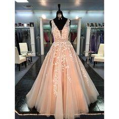 Real Image Champagne Prom Dresses Long 2017 Sexy Deep V-Neck Vestidos De Festa A-Line Formal Evening Gowns For Women
