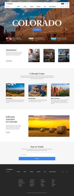 US Regions Website Design