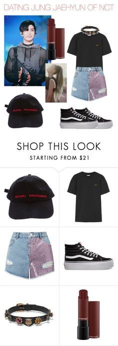 """""""Dating Jaehyun Of NCT U/127"""" by aurejuanbaston ❤ liked on Polyvore featuring Vetements, Miss Selfridge, Vans and Gucci"""