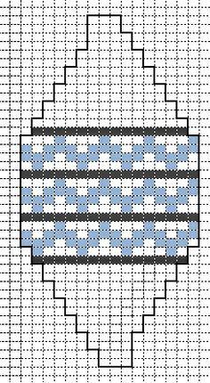 kerstbal telpatroon 6 fantasie zigzag met strepen
