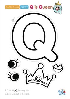 'Q is Queen' craft! A whole craft series to go with our Meet the Nemies video series available at badanamu.com. Enjoy!