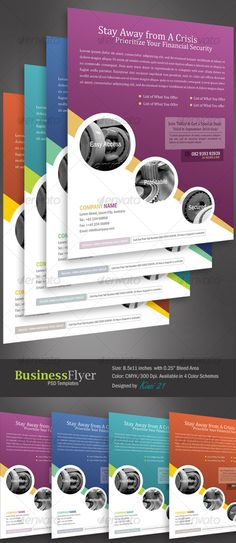 Business Flyer Template With 4 Color Schemes Download info: http://graphicriver.net/item/business-flyer-template-with-4-color-schemes/128764?r=kinzi21