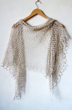 PATTERN IS WRITTEN IN ENGLISH. DIAGRAMS ARE SUITABLE FOR ALL LANGUAGES. Inspired with a special charm of rainy days, this rustic shawl looks like a piece of nature. It has gorgeous mild drape and can be weared as a scarf or kerchief. Easy & quick, but needs good blocking to open up the
