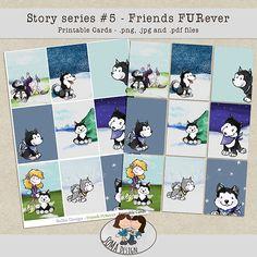 SoMa Design Friends FURever Cards Digital Scrapbooking, Peanuts Comics, Cards, Friends, Design, Amigos, Boyfriends, Maps, Design Comics