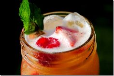 Nectarine Vodka Chiller Cocktails | Source: Kristin of blog 'Iowa Girl Eats' - http://iowagirleats.com/2011/06/30/shaken-nectarine-vodka-chillers/