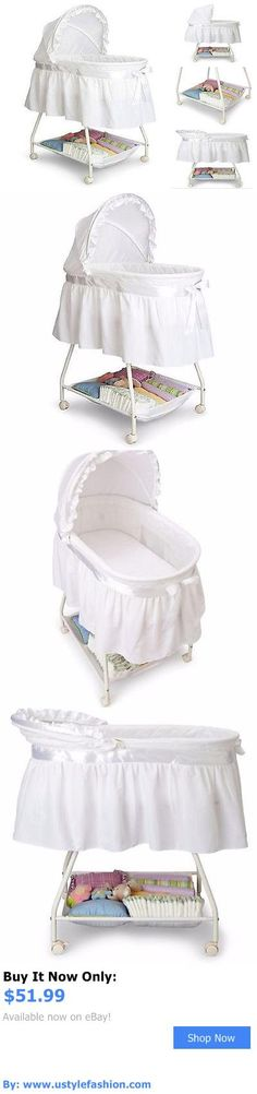Bassinets And Cradles: Baby Bassinet Basket Nursery White Infant Bedding Cradle Round Crib Canopy Bed BUY IT NOW ONLY: $51.99 #ustylefashionBassinetsAndCradles OR #ustylefashion
