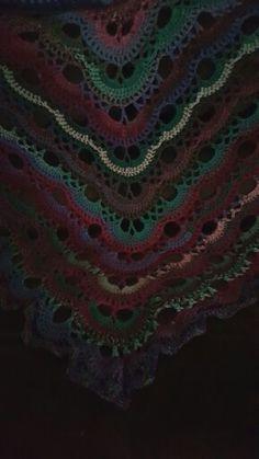 """My """"virus"""" shawl"""