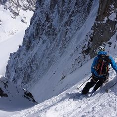 @joelevans with jelly legs at the top of the Col De la Verte. He and it skied very well. @salomonoutdoor @salomonfreeski #mountains #expandyourplayground #spineriders #spring #sprung #alpine #snow #glacier #argentiere #ski #timetoplay #steepskiing #chamonix #chamlive #powder #powderday by searlerdave