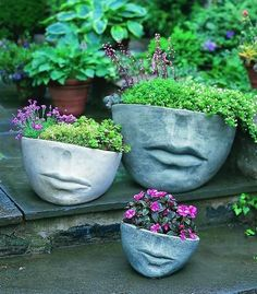 Face pots.....has to be the most dumbest thing I've seen on pintrest , had to repin for the giggle