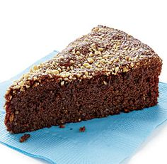 Chocolate-Marcona Almond Torte - Marcona almonds give this flourless chocolate cake deep flavor and a wonderfully moist texture, while a splash of dark rum enhances the chocolate notes; for a nonalcoholic version, omit the rum.