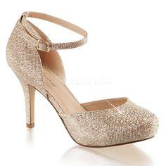 7e04ba0972b COVET-03 Sexy Multi Glitter Embellishment Mini Platform Shoes