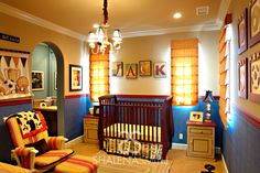 We love the color and sports accents in this baby boy nursery from @Shalena Alaniz Smith! #nursery