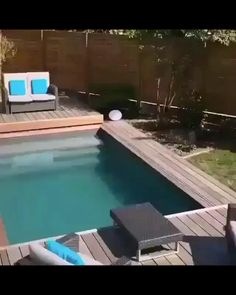Hot Tub Backyard, Small Backyard Pools, Small Pools, Backyard Patio, Outdoor Pool, Small Garden With Pool Ideas, Swimming Pools Backyard, Swimming Pool Designs, Pool Landscaping