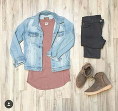 Outfit grid - Denim jacket day