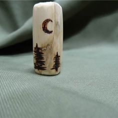 Wooden Tree Bead wit