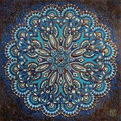 """""""Blue Mandala"""" Artist: Amy E. Fraser"""