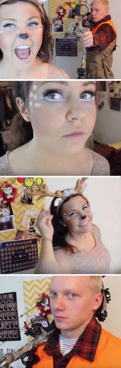 Deer + Hunter   Last Minute Halloween Costumes for Groups DIY