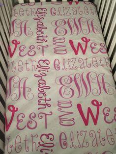 Crib Sets, Baby Cribs, Names, Etsy Shop, Printed, Handmade Gifts, Home Decor, Baby Cot Sets, Kid Craft Gifts