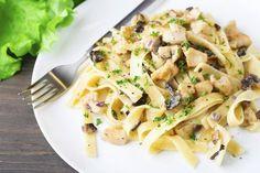 La recette du jour : les pâtes au thon, à la crème et aux champignons, simple et original !