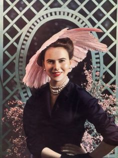 Christian Dior 1948 Hat, Philippe Pottier, Fashion Photography