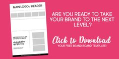 Creating a Brand Board for your Business & It's Benefits + FREE Download — Studio Krystal