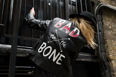 Customizable leather jackets?! So much YES. London based designer Laurie Lee Burley has been hand painting vintage leather jackets since 2015, after leaving her long career in advertising. I just love the contrast of the bold typography against the black leather jacket, the iconic symbol of