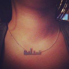 Cleveland Skyline Necklace from CLE Clothing Co! http://www.cleclothingco.com/