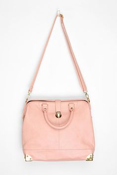 """Metal Edge Satchel"" by Deena And Ozzy in rose (from Urban Outfitters)."