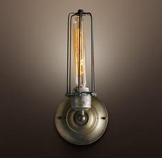 Restoration hardware has the coolest vintage lighting and edison bulbs!