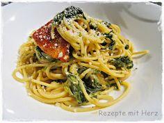 Thermomix - Rezepte mit Herz : Pasta mit Spinat-Rahm-Sauce