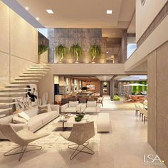 """Luxury Homes Interior Dream Houses Exterior Most Expensive Mansions Plans Modern 👉 Get Your FREE Guide """"The Best Ways To Make Money Online"""" Dream Home Design, Modern House Design, Home Interior Design, Modern Mansion Interior, Modern Condo, Modern Loft, Interior Livingroom, Kitchen Interior, Interior Ideas"""