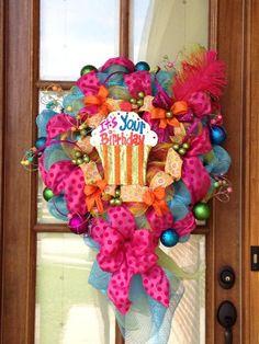 Birthday Wreath on Etsy, $95.00