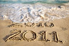 oh! let's go to the beach on  New Year's to take this picture..!