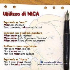 Utilizzo di MICA  www.impariamoitaliano.com