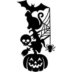Silhouette Design Store - View Design #219360: halloween totem