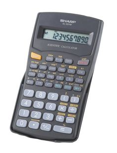 Sharp EL501WBBK 10 Digit 131 Function Calculator by Sharp. $4.49. The EL501WBBK 10-Digit calculator is a great companion for any math student. It covers a range of potential math problems with the ability to perform over 130 scientific and math functions. It features a large, one-line, ten-digit LCD display that makes it easy to read numbers as they're entered and answers to equations. The calculator is battery powered with automatic shut-down, ensuring that power is conserved ...