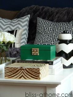DIY Decorative Box using items from Michael's. #emerald #coloroftheyear