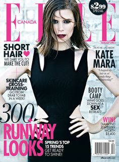 Kate Mara is the cover girl on ELLE Canada's January 2014 issue. ART DIRECTOR Brittany Eccles PHOTOGRAPHER Max Abadian STYLIST Elizabeth Cabral HAIR Mara Roszak MAKEUP Jake Bailey MANICURE Michelle Saunders.