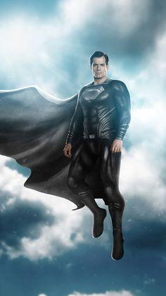 Black Superman, Supergirl Superman, Superman Man Of Steel, Batman Vs Superman, Dc Comics Vs Marvel, Dc Comics Superheroes, Dc Comics Art, Superman Artwork, Superman Wallpaper