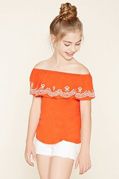 Girls Embroidered Top (Kids)