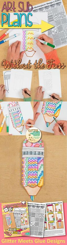 Bulletin board ideas can be easy to come by but tedious to implement. Why stress yourself out coming up with fun, engaging projects to display when you can download them instantly? No more last minute scrambling! Check out this pencil art project game. It's perfect for back to school bulletin boards and simple enough to leave with a substitute teacher, too.