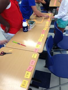 decimals in order from least to greatest. Super FUN and FREE group activity!Comparing decimals in order from least to greatest. Super FUN and FREE group activity! Sixth Grade Math, Fourth Grade Math, Math Strategies, Math Resources, Fraction Activities, Math Coach, Math Classroom, Classroom Ideas, Math School
