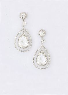 Bridal Crystal Earrings Art Deco Earrings Bridal by ORNENT on Etsy,