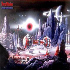 Perry Rhodan - Spaceship SOL over alien landscape