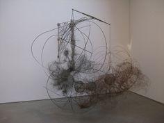 Judy Pfaff wire sculpture